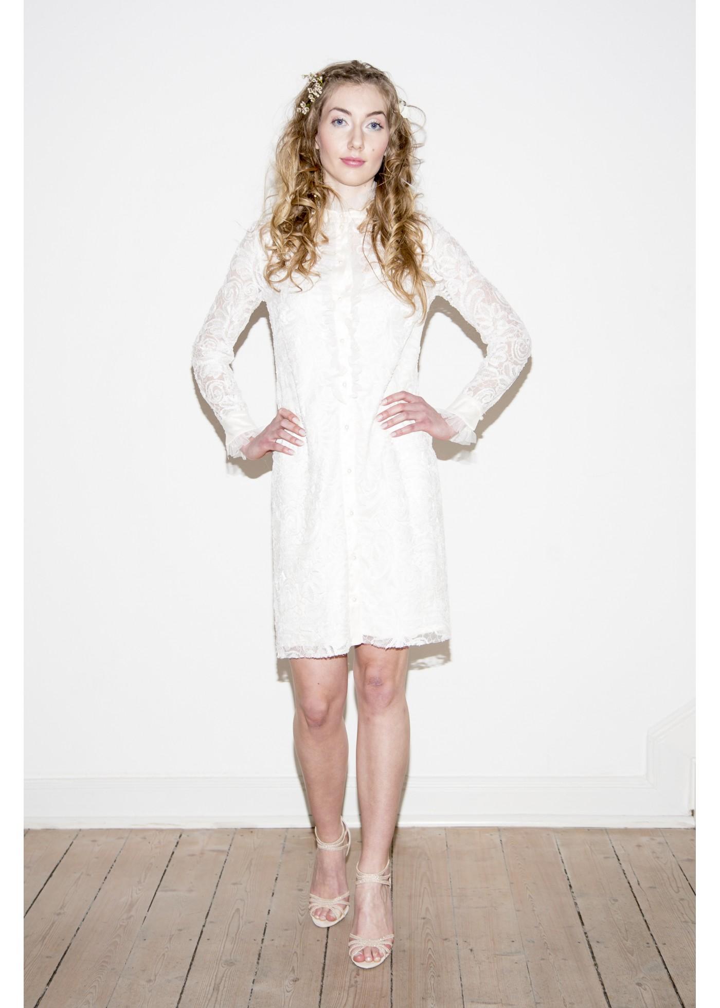 Rokko Kleid aus Organza Spitze