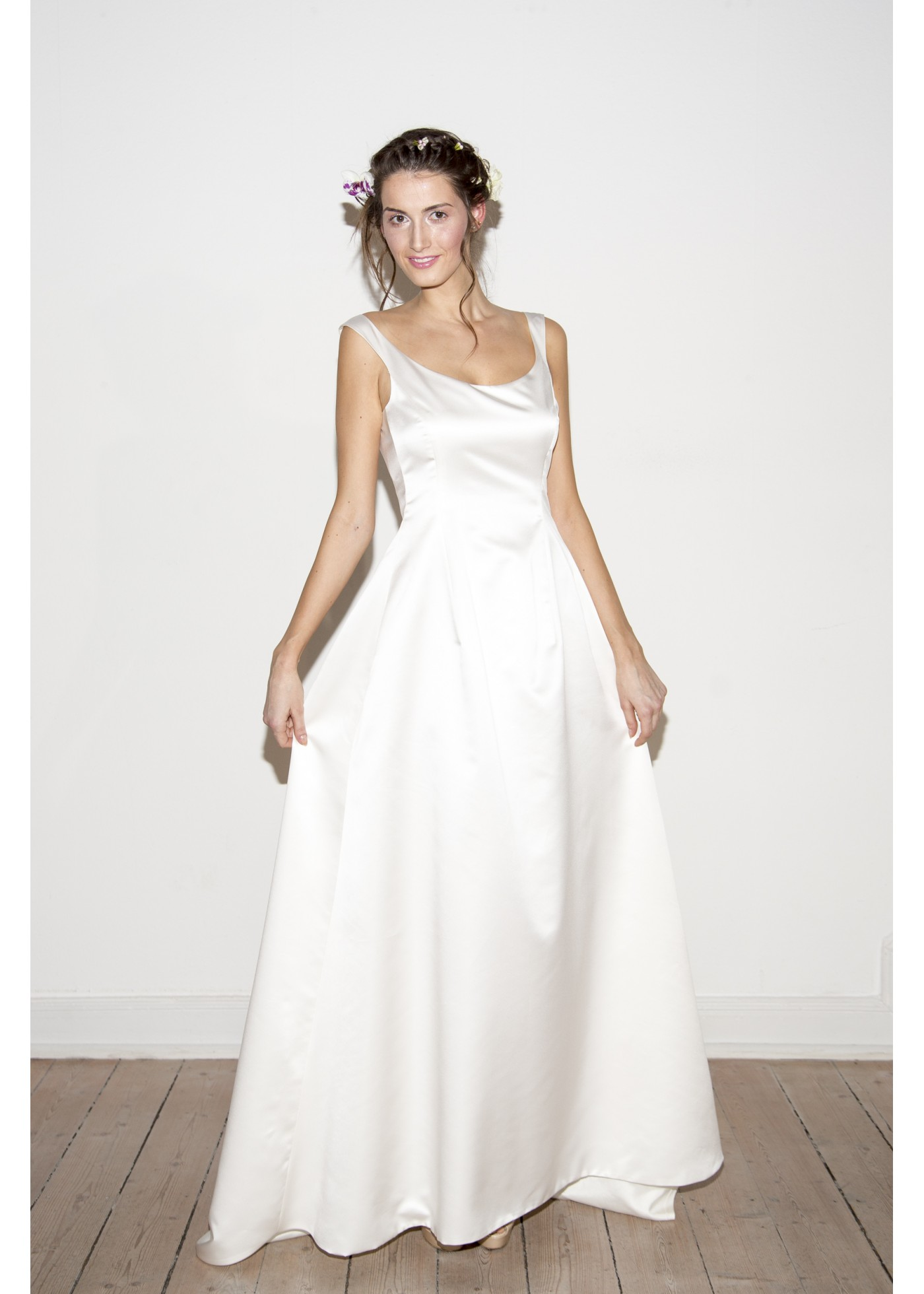 Langes Duchesse Kleid im Tulip Style