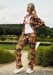 Slim pants, floral print