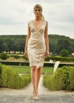 Lace dress, mother of pearl